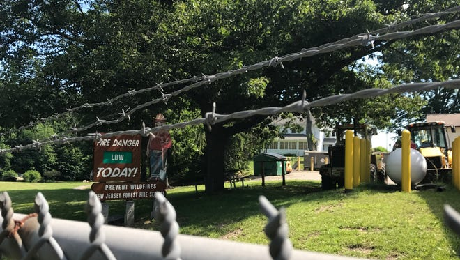 The entrance to Hopatcong State Park was closed Monday morning, July 3, 2017, as a impasse between Gov. Chris Christie and the state Legislature entered a third day of state government shutdown.