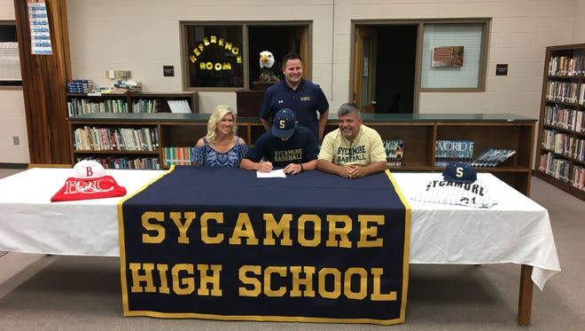 Sycamore High graduate Carson Gudino recently signed with Bryan College.