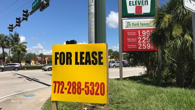 A 7-Eleven gas station and convenience store leased city property at Kanner Highway and Monterey Road.