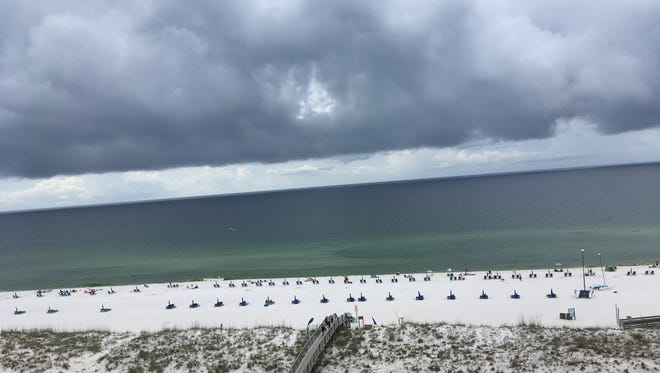 Storm brewing: When I woke up on our first day of vacation and saw these ominous clouds. I knew we were in trouble.