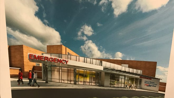 A rendering of the proposed Emergency Department renovations at Clara Maass Medical Center in Belleville.