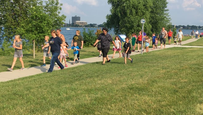 The Port Huron Rec Department is hosting an eight part walk series called Walk Michigan 2017. Tuesday's event was held at Kiefer Park in Port Huron.