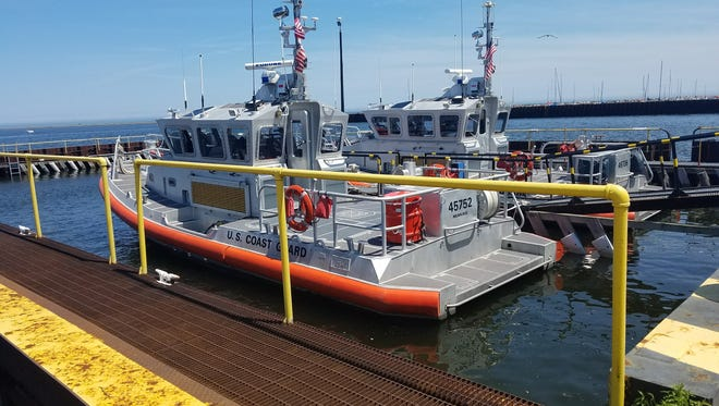 One of the U.S. Coast Guard boats docked at the Port of Milwaukee