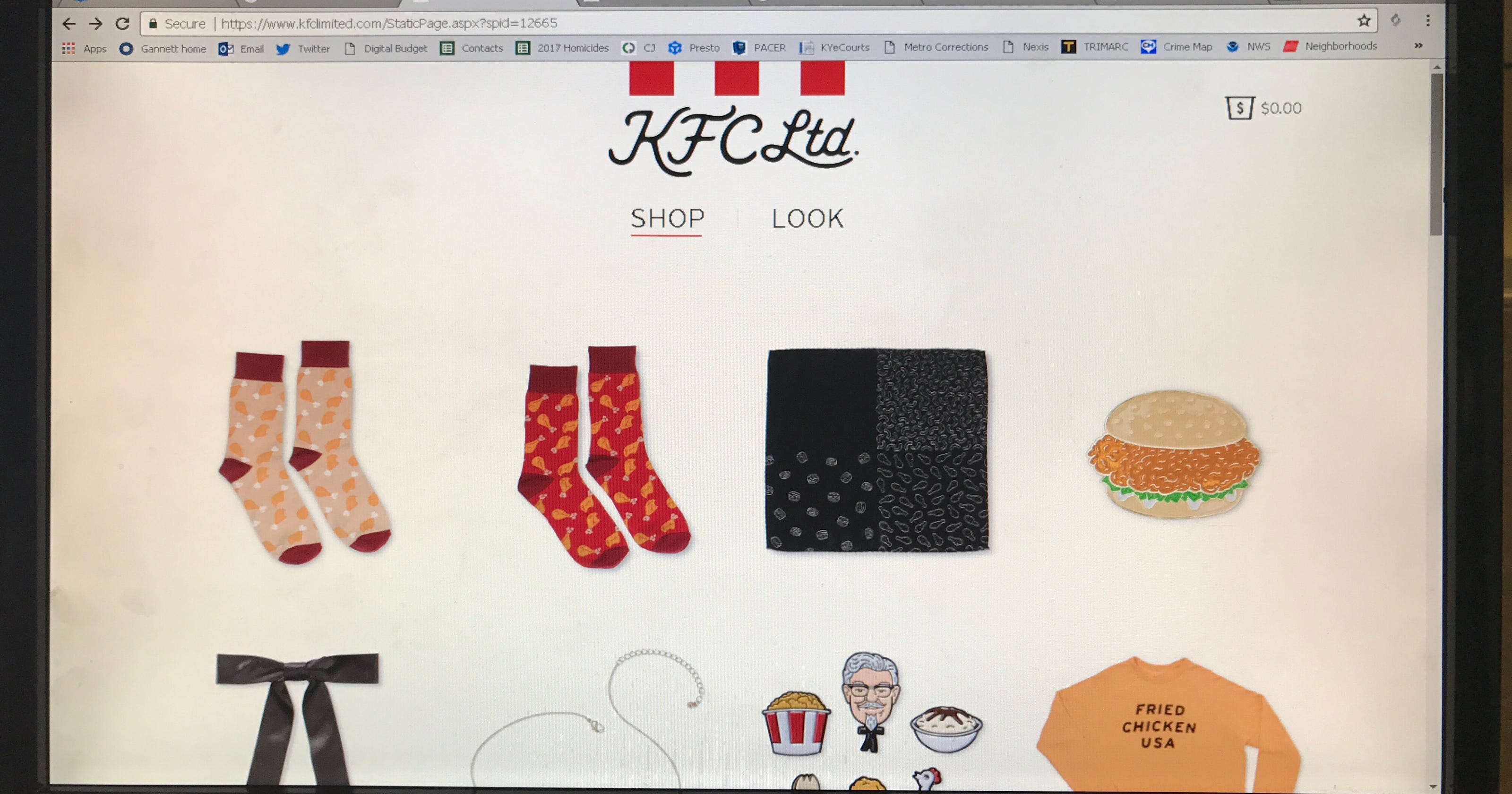 KFC cooks up a new line of merchandise
