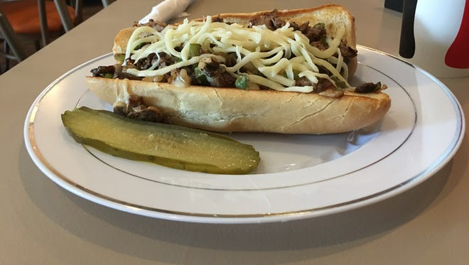 The Hoss at Wagon Wheel Diner comes with steak, peppers, onions, mushrooms and Swiss cheese.