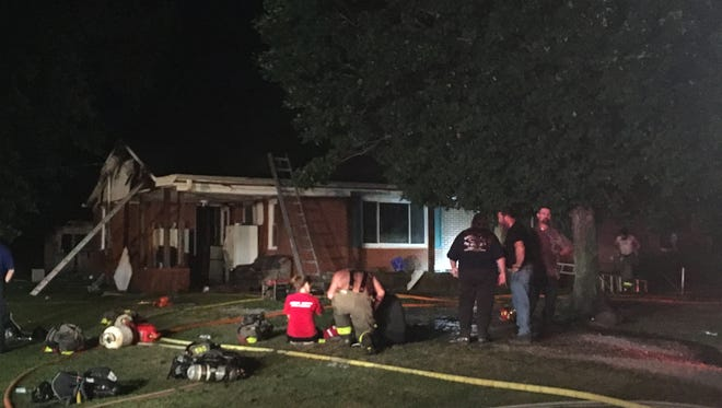 Crews from multiple Gibson County Fire Departments responded to a house fire Wednesday night on Marion Dodd Loop. Records show the home belongs to former Gibson County Sheriff's Office Chief Deputy Jeff Maitland.