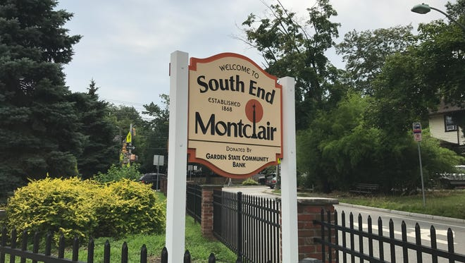 A sign welcomes visitors to the South End of Montclair.