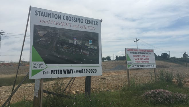 Construction at Staunton Crossing on Richmond Avenue in Staunton on Thursday, July 13, 2017.