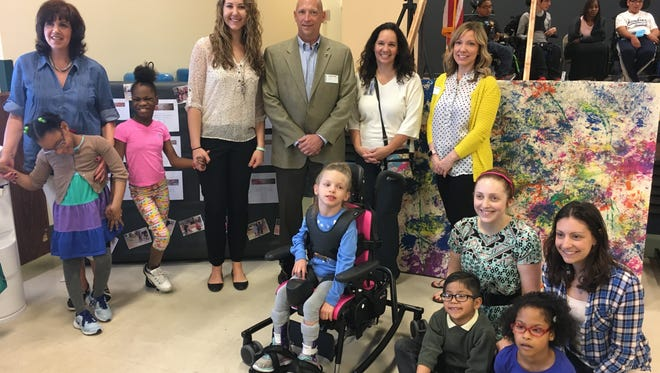 Left to Right: Ana Sousa, Jardine Academy, Rachel Jameson, Assistant Director of Child Development, Rodger Koerber, Rahway Branch Executive Director, Cynthia Isaksen, Jardine Academy and Melynda Mileski, EVP/COO, The Gateway Family YMCA, Kaitlyn Anastasi, Jardine Academy, Noelle Egner, Jardine Academy