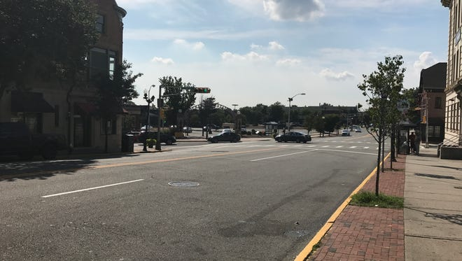 This stretch of Bloomfield Avenue in Montclair is the site of a recent road-rage incident.