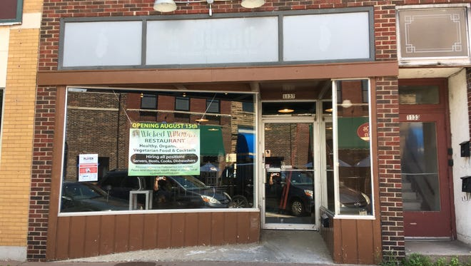 Wicked Willow, a new vegetarian restaurant, will open Aug. 15 at  1137 Main Street in downtown Stevens Point.