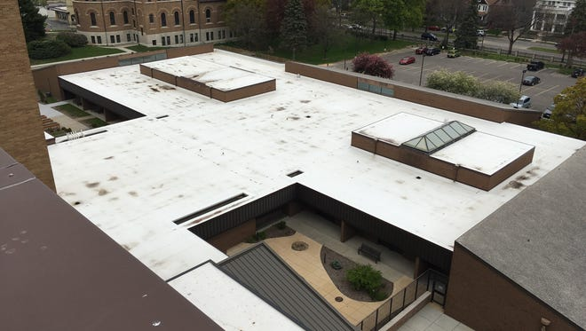 The sprawling rooftop of the School Sisters of Saint Francis Sacred Heart building in Milwaukee is expected to have 1,000 solar panels by fall 2017.