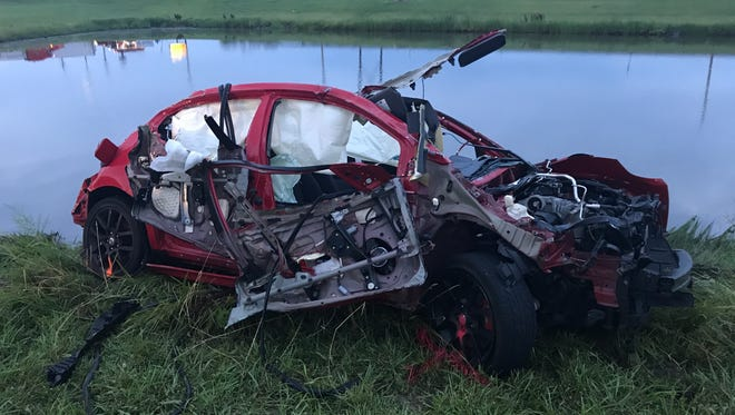 A police chase resulted in a fatal car crash near Love's Travel Stop off Indianapolis Road in Whitestown, Ind.