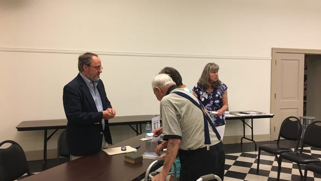 "Historian Tom Huntington meets with members of the York Civil War Roundtable recently after presenting on his book ""Searching for George Gordon Meade: The Forgotten Victor of Gettysburg."" The monthly Roundtable meets on the third Wednesday at the York County History Center."