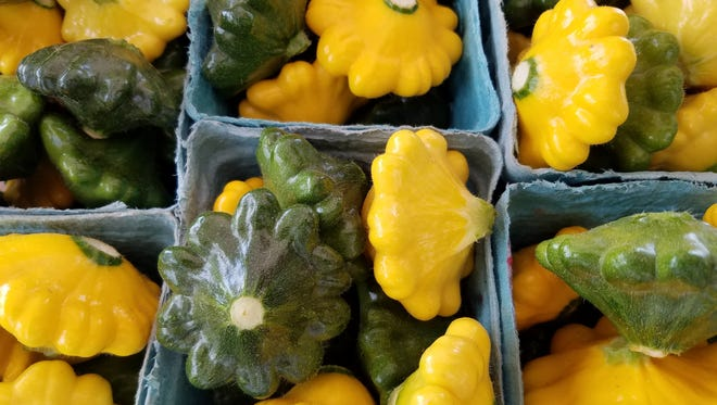 Patty pan squash at the River Arts District tailgate market.