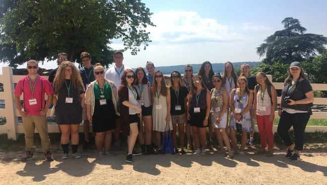 Boosting their leadership and civic engagement skills, Hunterdon and Somerset County4-H members learned about government processesas part of Citizenship Washington Focus (CWF).