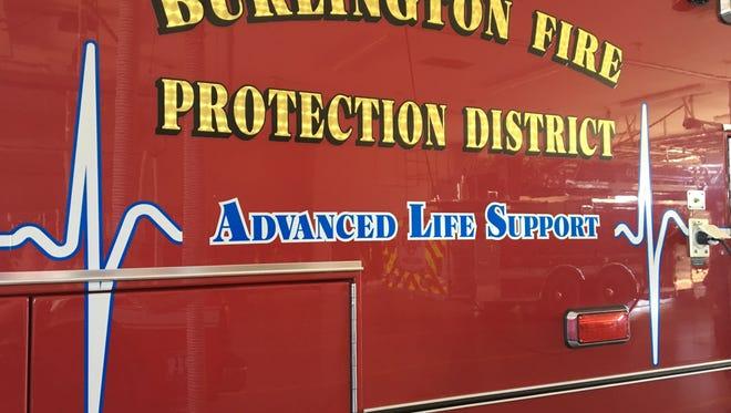 A Burlington Fire Department sergeant died Thursday in his home, officials said.