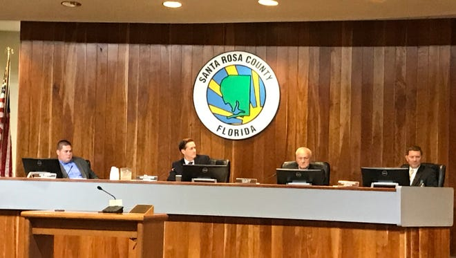 The Santa Rosa County Commissioners meet July 27, 2017, in Milton.