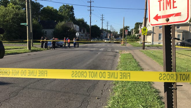 The scene at Sunday morning homicide in the Parklands neighborhood.