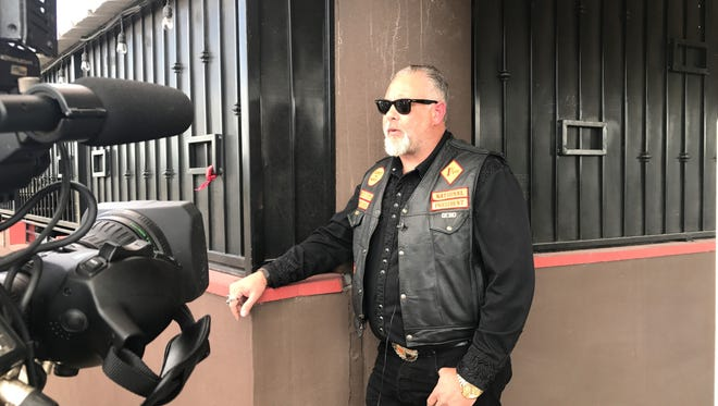 """Bandidos Motorcycle Club national president Clifton """"Dozer"""" Roberts, of Houston, on Tuesday said he was in El Paso to visit members and associates of the club who were wounded in a shooting Sunday night."""
