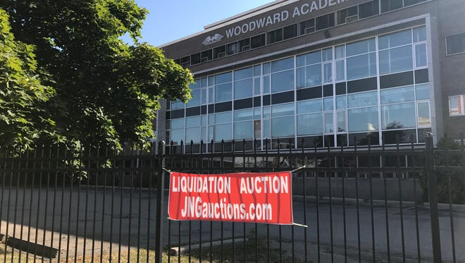 A look at the exterior of Woodward Academy in August, 2017. The charter school just east of downtown Detroit closed this summer.