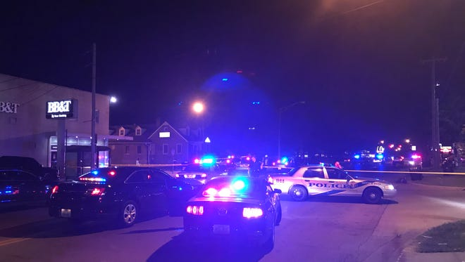 A man died after being struck by a vehicle on Taylor Boulevard.