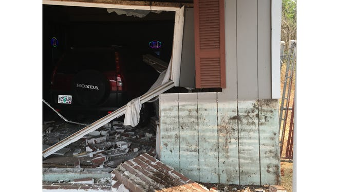 Perky's Cafe in Turner closed early on Thursday, Aug. 10, after a vehicle crashed through its brick wall.