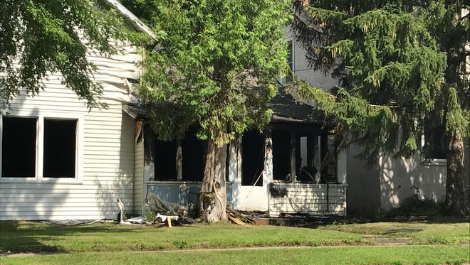 A fire caused substantial damage to a home at 430 Third Ave. S., Wisconsin Rapids, on Wednesday evening.