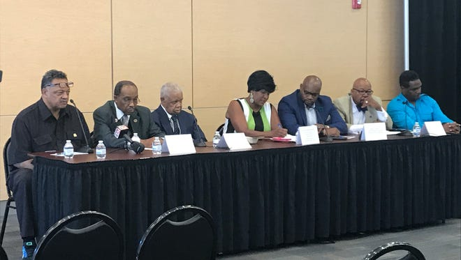 Rev. Jesse Jackson sits with a local community panel to discuss where are  50 years after Martin Luther King Jr.'s assassination.