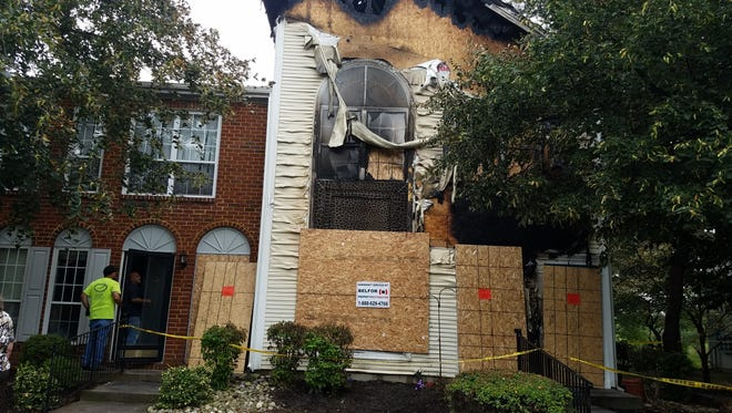 A fire late Sunday night claimed one life in an end-unit townhouse on Gregory Lane in the Society Hill development off South Middlebush Road in Franklin (Somerset). The adjoining unit also was damaged.