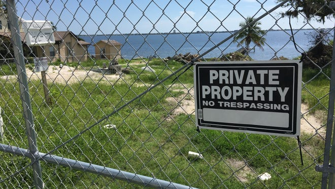 This vacant lot off U.S. 1 in Palm Bay, owned by Azzurri Property Holdings Inc., is where the owner wants a 500-foot dock to get to deep enough water for their boats.