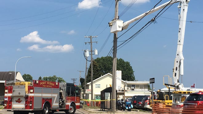 Military St. closed following crash.