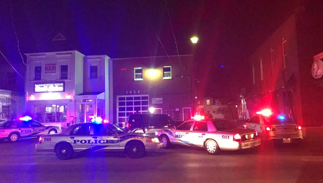 Police respond to a call of a shooting on Bardstown Road