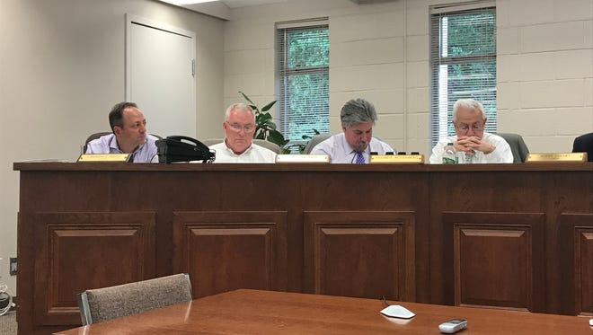 Here the Haworth council ponders various issues at the July Council meeting.