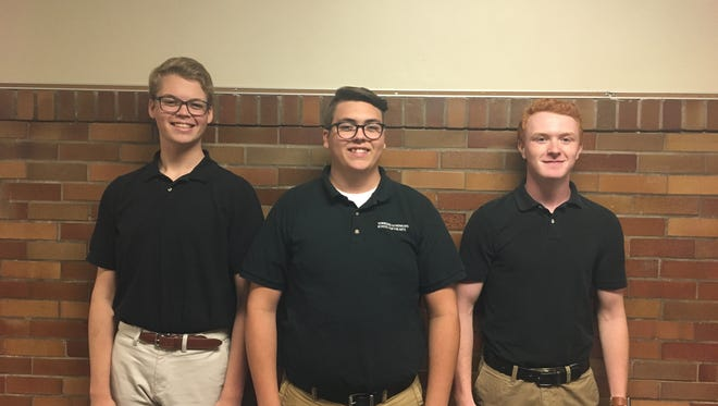 Ethan Baskin Riley Hooper and Chase Moore have been chosen for the esteemed All-National Honor Choir.
