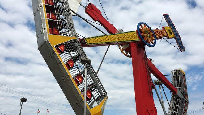 The Midway at the county fair will feature rides and free entertainment.