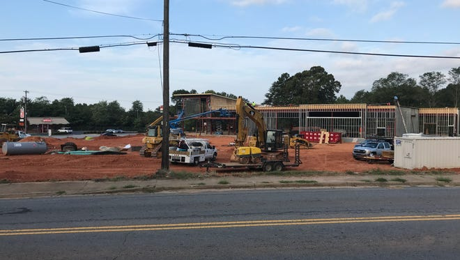 ALDI is building a new store at the intersection of N. Pleasantburg Drive and Worley Road. It's the grocery chain's sixth store in Upstate South Carolina. Aug. 25, 2017