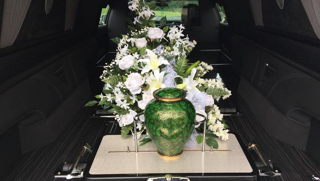 After cremation the ashes of the deceased may be placed in an urn.