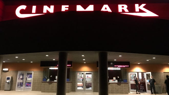 Cinemark Redding 14, pictured Thursday, is closed as crews clean up after a burst pipe.