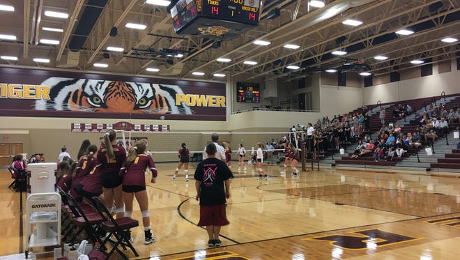 Harrisburg hosted Roosevelt in volleyball on Thursday, August 25, 2017.