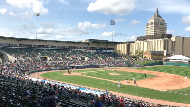 Frontier Field during a Rochester Red Wings game against the Scranton/Wilkes-Barre RailRiders last year.