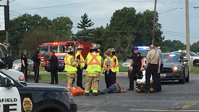 A motorcyclist suffered non-life threatening injuries after crashing on West Sunshine Street, an official said.