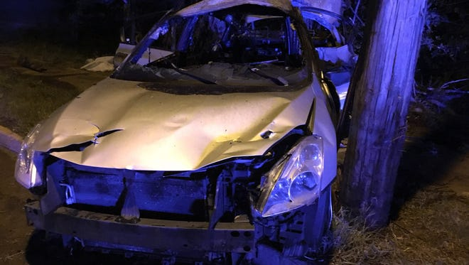 Three teenage girls were injured after their car crashed at East Raines and Hickory Hill on Friday night.