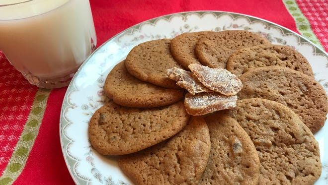 Soft and chewy these ginger cookies taste great with a glass of milk