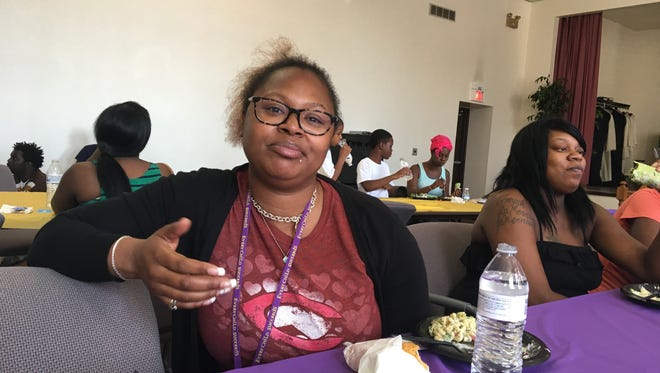 """Dominique Love has been attending the monthly """"Family Strong Feasts"""" in Avondale since they started in 2015. She now advocates for pregnant women as a community worker at Cincinnati Children's Hospital Medical Center."""