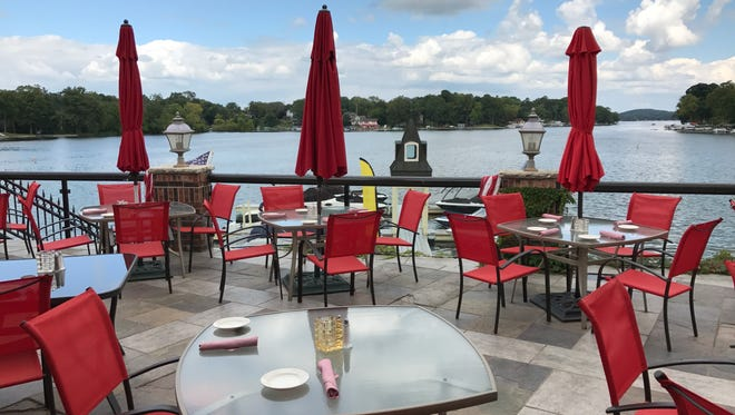 The Golden Mast in Oconomowoc offers incredible views of Okauchee Lake. Docks are only feet away for guests who would rather take the trip over in their boats.