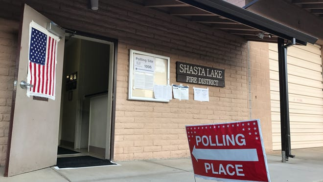 A polling place at the Shasta Lake Fire Protection District Station Tuesday reported it had only handed out 53 ballots. The vast majority of voters opted to mail in their ballots in the special election to expand taxes on cannabis businesses and use the money for law and code enforcement.