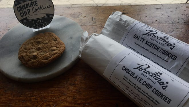 Porcellino's Craft Butcher sells rolls of house-made cookie dough.