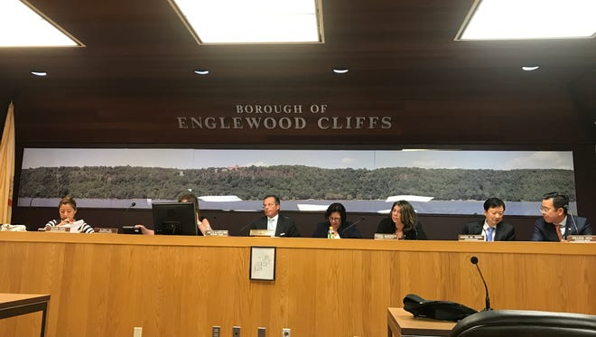 The Englewood Cliffs Borough Council meets on Aug. 31, 2017.