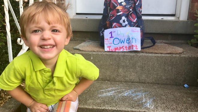 Owen Doyle was quite ready for school to start.